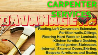 DAVANAGERE    Carpenter Services  ~ Carpenter at your home ~ Furniture Work  ~near me ~work ~Carpent