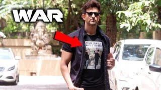 Hrithik Roshan Spotted Promoting Their Film WAR | Tiger Shroff