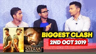 WAR Vs Syeraa Narasimha Reddy BIG CLASH | Hrithik Roshan And Tiger Shroff Fans Reaction