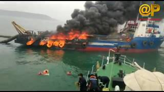 Fire In Jaguar Tug At Sea | Port Officials making Arrangements | News online entertainment
