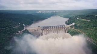 Srisailam Dam To Prakasam Barrage Aerial View   Helicopter&Boat Journey   My Train Journey