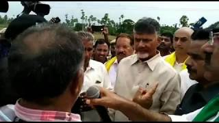 Chandrababu's consolation trip in the rain is also for farmers | Guntur district | online