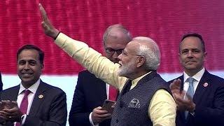 Howdy Modi: PM Modi arrives at NSG stadium amid rousing welcome
