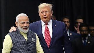 Howdy Modi: US President Donald Trump arrives at Houston's NRG stadium