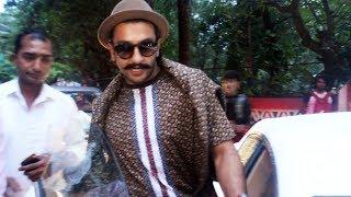 Ranveer Singh Spotted At Shankar Mahadevan Studio Bandra