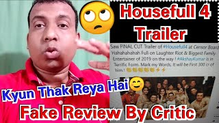 Housefull 4 Trailer Fake Review By So Called Censor Board Person!
