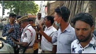 2 Naujawano Ne Ki Taraffic Police Ke Saat Ki Behas While Vehicle Checking | @ SACH NEWS |