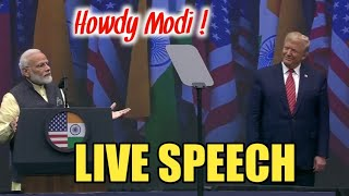 PM Modi Live Speech in  Howdy Modi community programme in Houston,USA-  Historical Speech by Modi