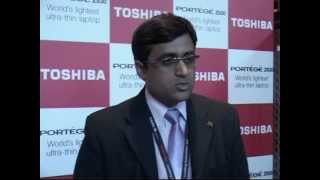 Mr. Sivakumar N., VP-Strategic Marketing, Product Manager and Services - DS Division, Toshiba India