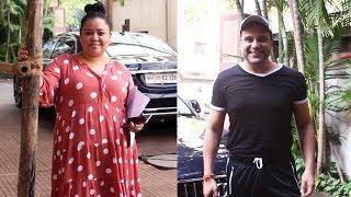 Krushna Abhishek And Bharti Singh Spotted At Kwan Office Andheri