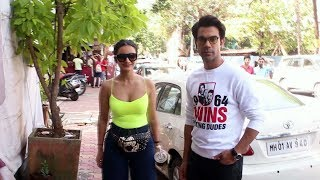 Rajkummar Rao Along With Patralekha Spotted For Lunch Brunch At Kitchen Garden Juhu