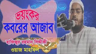 Bangla Waz Mahfil 2019 | ভয়ংকর কবরের আজাব। বাংলা ওয়াজ হাফিজুর রহমান সিদ্দিকী । Islamic BD