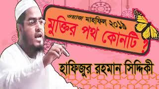 মুক্তির পথ কোনটি । বাংলা ওয়াজ হাফিজুর রহমান সিদ্দিকী । Bangla Waz mahfil 2019 | New Waz Bangla