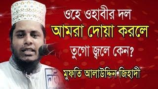 ওরে ওহাবীর দল আমরা দোয়া করলে তুগো জ্বলে কেন আলাউদ্দিন জিহাদী Mufti Alauddin Jihadi | bangla Waz 2019