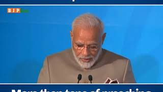 We believe the right practice is worth more than tons of preaching: PM Modi in UN