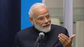 PM Shri Narendra Modi addresses Gandhi@150 programme at the United Nations