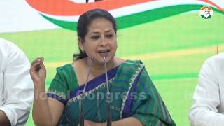 AICC Press briefing by Sharmistha Mukherjee at Congress HQ