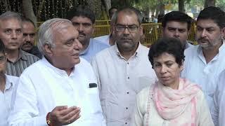 Kumari Selja and Bhupinder Singh Hooda addresses media after meeting with EC