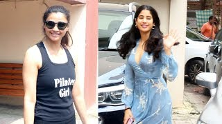 Daisy Shah And Janhvi Kapoor Spotted At Pilates Gym Khar