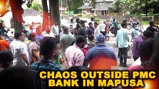 Watch: Chaos outside PMC bank in Mapusa after RBI imposes restrictions