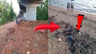 Contractor Allegedly Dumps Plastic Waste In Water After Completing Bridge Work In Cancona
