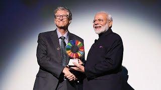 PM Modi conferred 'Global Goalkeeper' award for Swachh Bharat Abhiyan