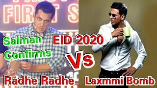 SALMAN Khan Confirms Radhe Radhe Vs Laxmmi Bomb Clash On EID 2020!