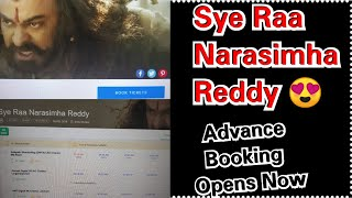 Syeraa Narasimha Reddy Advance Booking Started, 1st Show Almost Housefull In This Theater