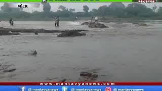 Botad: રાણપુરના નાગનેશ ગામે ભાદર નદીમાં પૂરના કારણે રસ્તા ધોવાયા