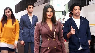 The Sky Is Pink Team- Priyanka Chopra Jonas, Farhan, Rohit Saraf & Shonali Bose SPOTTED At Film City