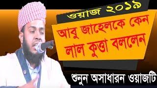 আবু জাহেল কে কেন লাল কুত্তা বললেন । বাংলা ওয়াজ ২০১৯ । New Bangla Waz Video | Waz mahfil Bangla