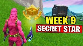WEEK 9 SECRET BATTLE STAR LOCATION! Fortnite Season 10 - Secret Battle Star Week 9