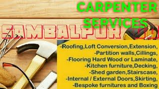 SAMBALPUR OD   Carpenter Services ~ Carpenter at your home ~ Furniture Work ~near me ~work ~Carpen
