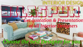 BILASPUR     INTERIOR DESIGN SERVICES ~ QUOTATION AND PRESENTATION~ Ideas ~ Living Room ~ Tips ~Bedr