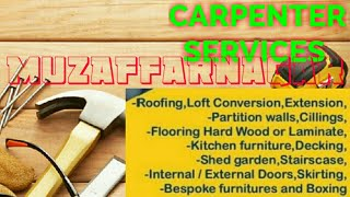 MUZAFFARNAGAR    Carpenter Services  ~ Carpenter at your home ~ Furniture Work  ~near me ~work ~Carp