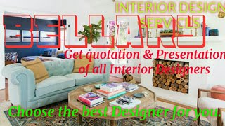 BELLARY    INTERIOR DESIGN SERVICES ~ QUOTATION AND PRESENTATION~ Ideas ~ Living Room ~ Tips ~Bedroo