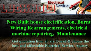 Electrical Services |Home Service by Electricians | New Built House electrification |