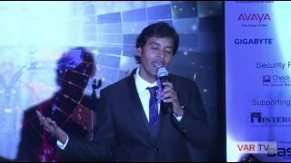 Rahul Kapoor, Comparer of 13th Star Nite Award, giving motivational speech