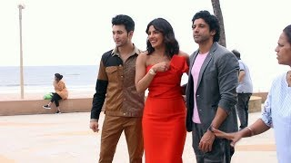 The Sky Is Pink Film Promotion | Star Cast Spotted At Sun And Sand Juhu | Priyanka Chopra, Farhan
