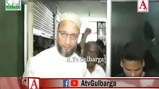 AIMIM Gulbarga Dist Office inaugurated By Asaduddin Owasi at Muslim Chowk Gulbarga A.Tv News 26-9-10