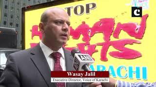 Digital banners on New York vans highlight atrocities against minorities in Karachi