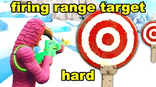 HIT HARD FIRING RANGE TARGET LOCATIONS - BULLSEYE CHALLENGES FORTNITE SEASON 10