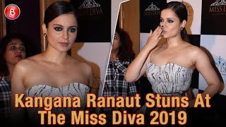 Kangana Ranaut Looks Stunning As She Walks The Red Carpet At The Miss Diva 2019 Event
