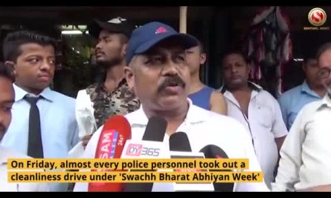 Cleanliness Drive by Lumding Police under 'Swachh Bharat Abhiyan Week'
