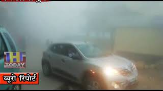 27 SEP N 7 B 2 In the Swarghat region, fog covered the hills with rain
