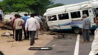 Accident news राजस्थान: जोधपुर में बस और बोलेरो की भीषण टक्कर, 10 की मौत