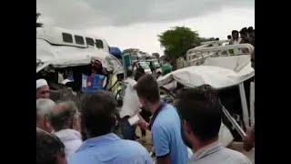 Bus crashes into camper van on Jaisalmer-Jodhpur road, 13 dead