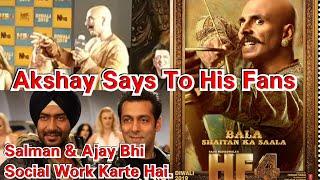 Akshay Kumar Clarifies His Fan Says Salman Khan And Ajay Devgn Also Does Social Work At Housefull 4!