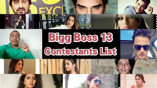 Bigg Boss Season 13 Full Contestants List With Detailed Introduction