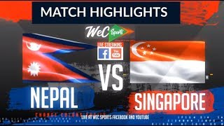 InstaReM Singapore Tri-Series, Match 2: Singapore vs Nepal Highlights